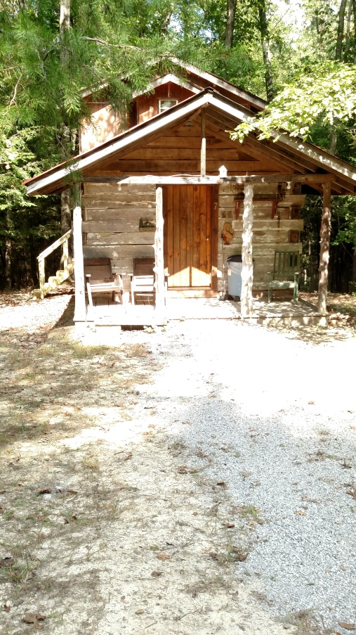 Our Railrooad Cabin is set back in the woods.